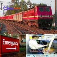WorldClass Medilift Train Ambulance from Patna to Delhi